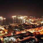 The night views of Vladivostok city