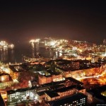 The night views of Vladivostok city