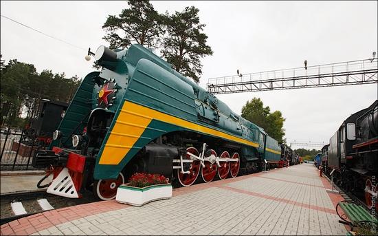 Novosibirsk museum of railway equipment view 1