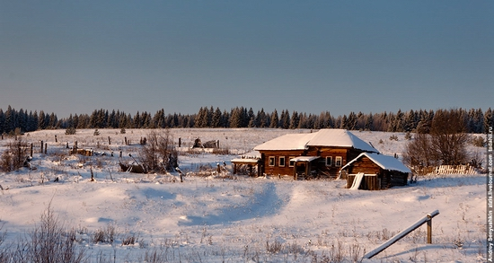 Perm krai, Russia abandoned village scenery 14
