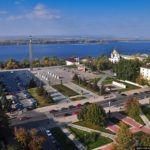 Bird's eye views of Samara city