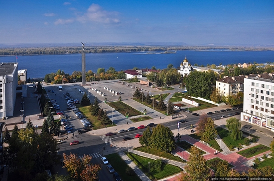 Samara city, Russia birds eye view 1