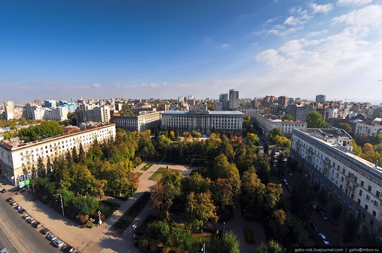 Samara city, Russia birds eye view 10