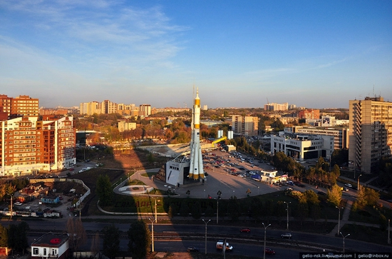 Samara city, Russia birds eye view 11