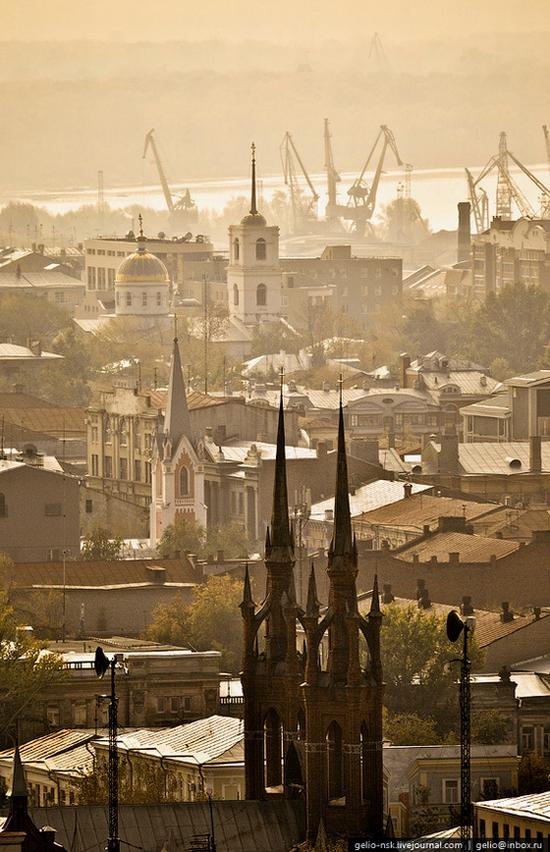 Samara city, Russia birds eye view 14