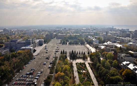 Samara city, Russia birds eye view 16