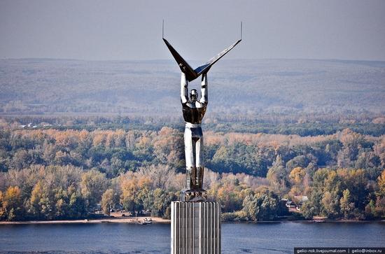 Samara city, Russia birds eye view 8