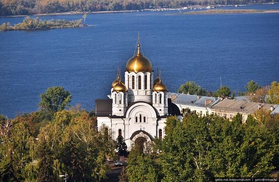 Samara city, Russia birds eye view 9