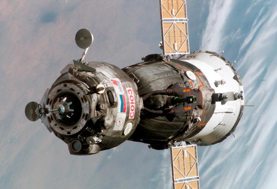 Soyuz spacecraft view