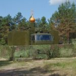 Battle church of Russian army