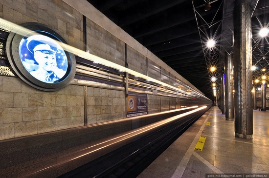Gagarin subway station, Novosibirsk, Russia view 5