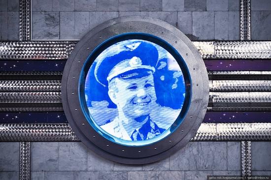 Gagarin subway station, Novosibirsk, Russia view 8