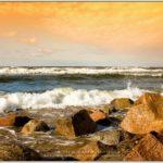 Picturesque views of Baltic Sea coastline