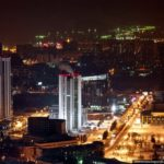 Ekaterinburg city aerial views