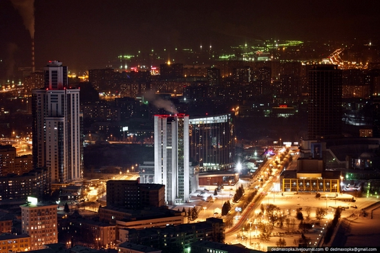 Ekaterinburg city, Russia aerial view 1