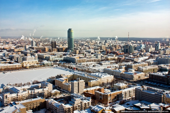 Ekaterinburg city, Russia aerial view 3
