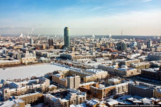 Ekaterinburg city, Russia aerial view 3