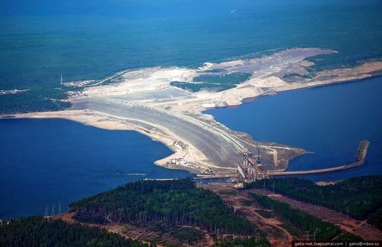 Boguchanskaya hydropower plant construction view 11