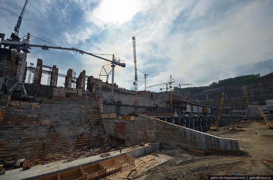 Boguchanskaya hydropower plant construction view 2