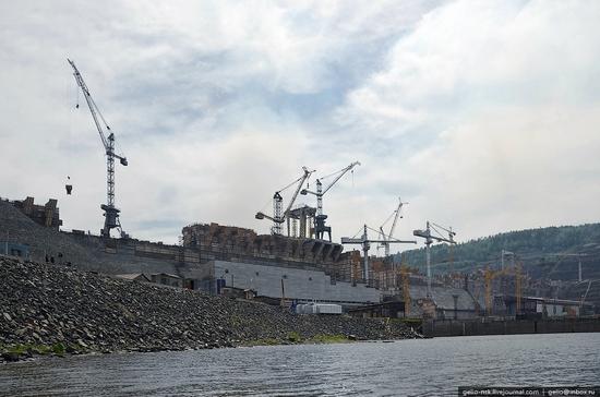 Boguchanskaya hydropower plant construction view 3