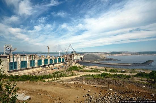 Boguchanskaya hydropower plant construction view 6