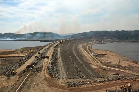 Boguchanskaya hydropower plant construction view 8