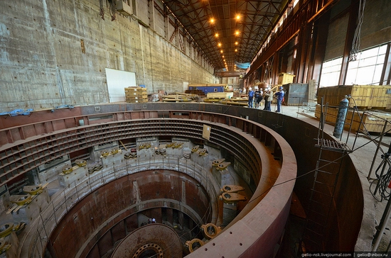 Boguchanskaya hydropower plant construction view 9