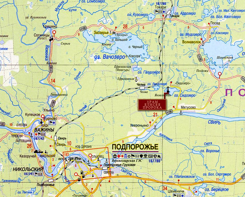 St Prophet Elisha church, Leningrad oblast, Russia map location