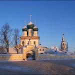 Picturesque winter views of Tutaev churches