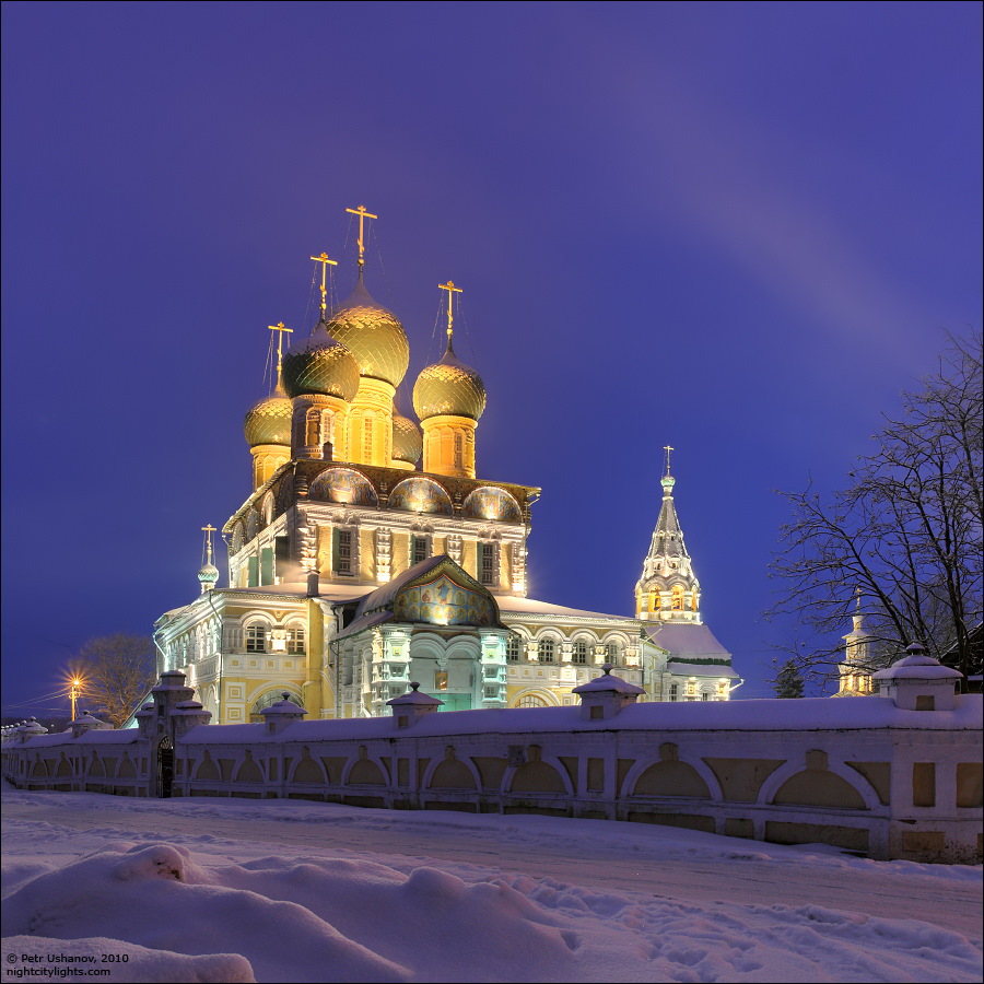 Russia: Picturesque Winter Views Of Tutaev Churches · Russia
