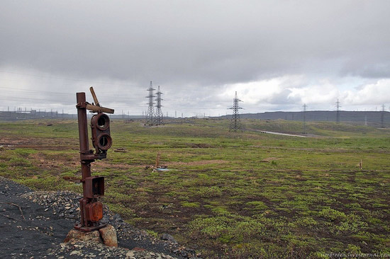 Deserted industrial outskirts of Norilsk, Russia view 11