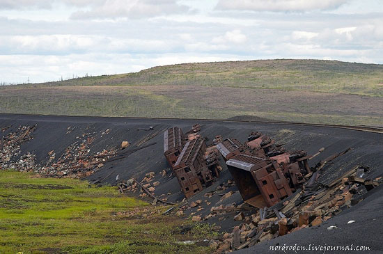 Deserted industrial outskirts of Norilsk, Russia view 14