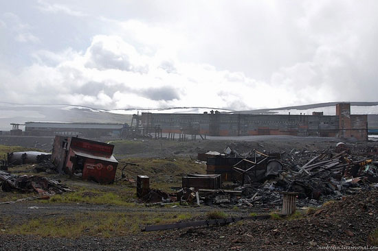 Deserted industrial outskirts of Norilsk, Russia view 3