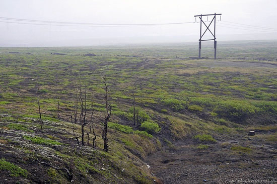 Deserted industrial outskirts of Norilsk, Russia view 7