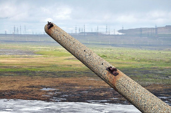 Deserted industrial outskirts of Norilsk, Russia view 9