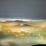 Mysterious fog over Vladivostok city