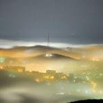 Mysterious fog over Vladivostok city
