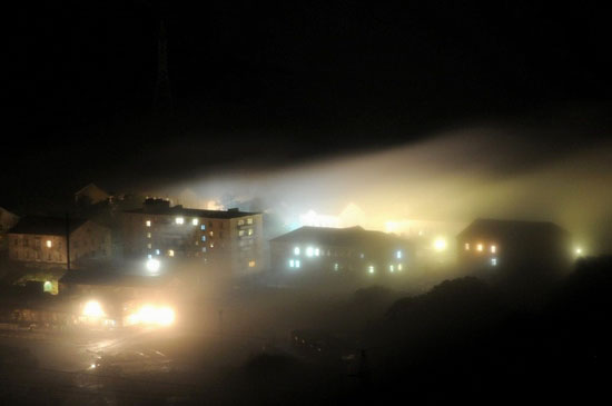 Mysterious fog over Vladivostok city, Russia view 2