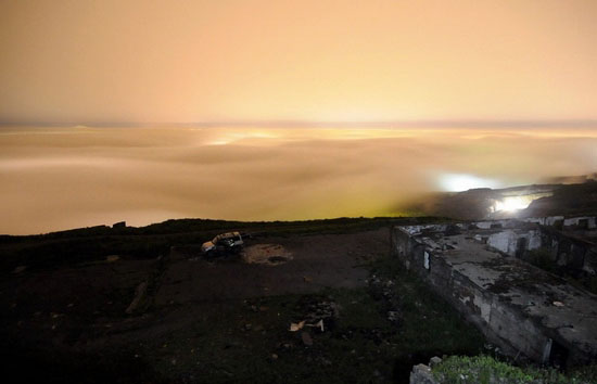 Mysterious fog over Vladivostok city, Russia view 4