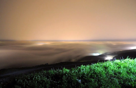 Mysterious fog over Vladivostok city, Russia view 6