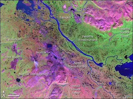 Norilsk area pollution