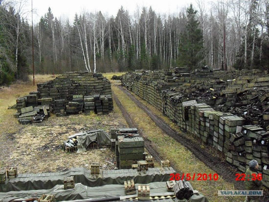 Storage and transportation of ammunition in Russian army view 1
