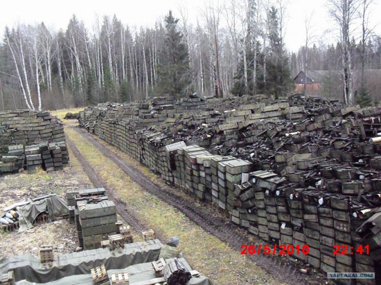 Storage and transportation of ammunition in Russian army view 3