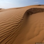 One of the highest sand dunes in Astrakhan oblast