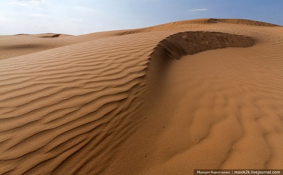 Big Brother - One of the highest sand dunes in Astrakhan oblast, Russia view 1