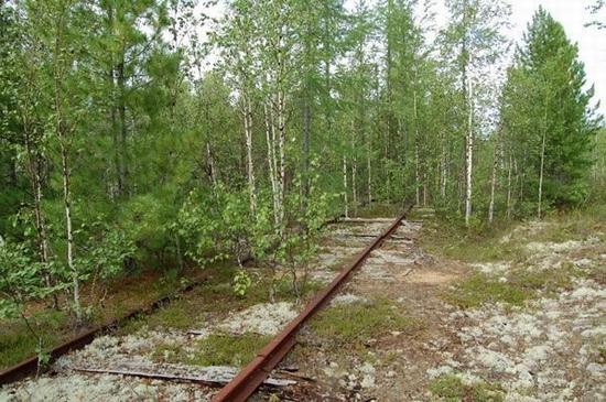 Abandoned Transpolar railway Salekhard-Igarka, Russia view 15