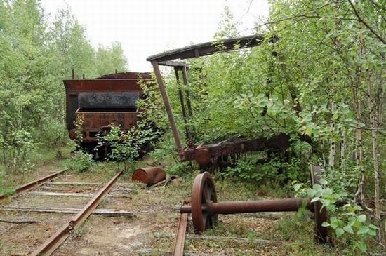 Abandoned Transpolar railway Salekhard-Igarka, Russia view 18