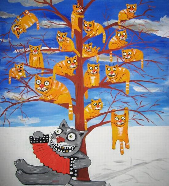 Russian artist Vasya Lozhkin painting 12