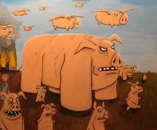 Russian artist Vasya Lozhkin painting 24