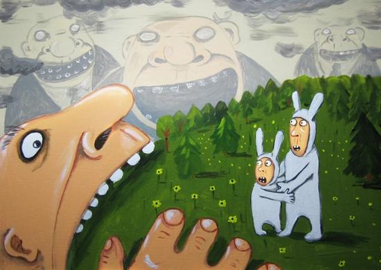 Russian artist Vasya Lozhkin painting 6